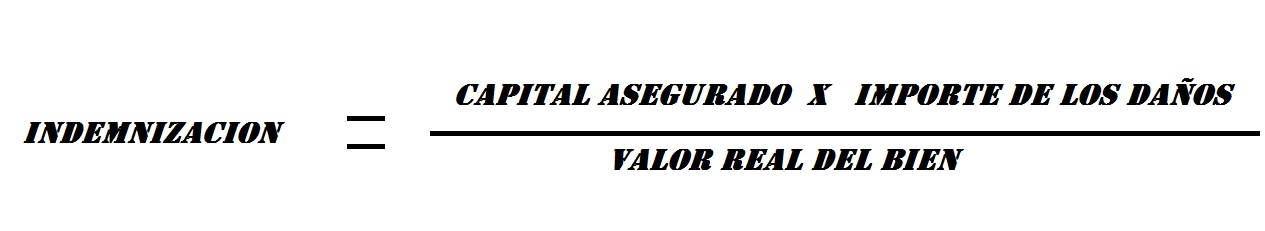 formula del infraseguro, regla proporcional