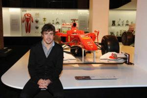 Fernando Alonso, en la exposición