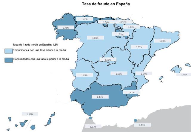 Mapa del fraude del seguro en España elaborado por Axa