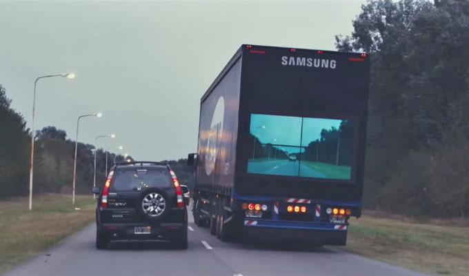 El camión seguro de Samsung puede evitar muchos accidentes en las carreteras
