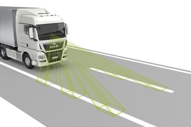 El sistema LGS se adapta al camión y a las condiciones de la carretera.