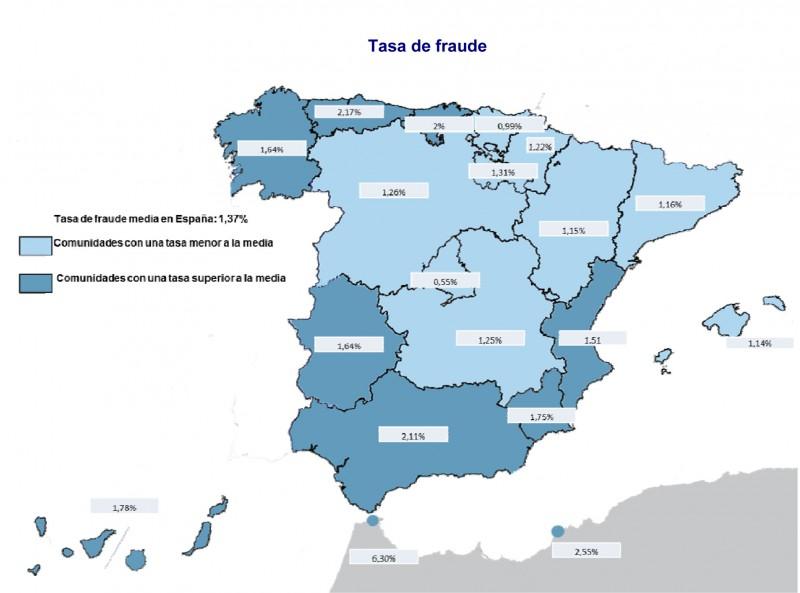 AXA Seguros ha elaborado el III Mapa del Fraude en España