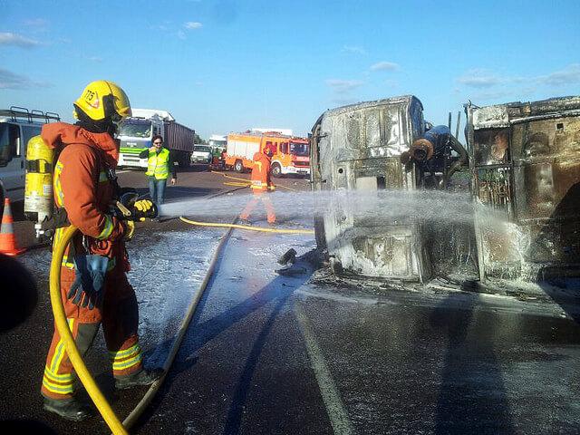 El Seguro de Camiones recibe más de un millar de partes al año por robo o incendio