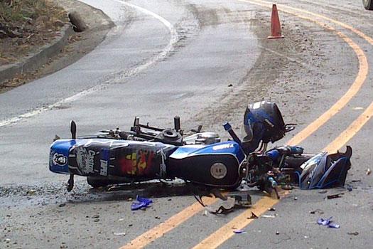 Accidentes de moto en verano