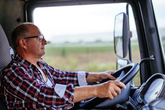 conductor del camión asegurado