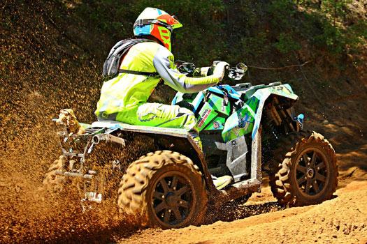 Seguro para casco del quad o ATV