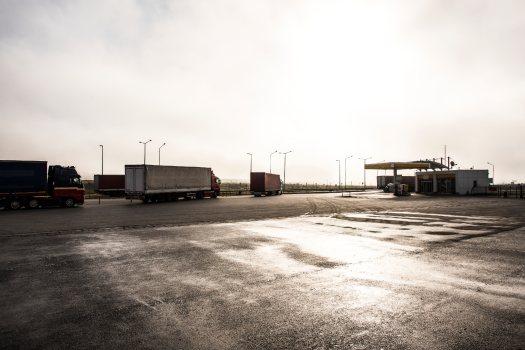 estaciones de servicio para camiones y conductores