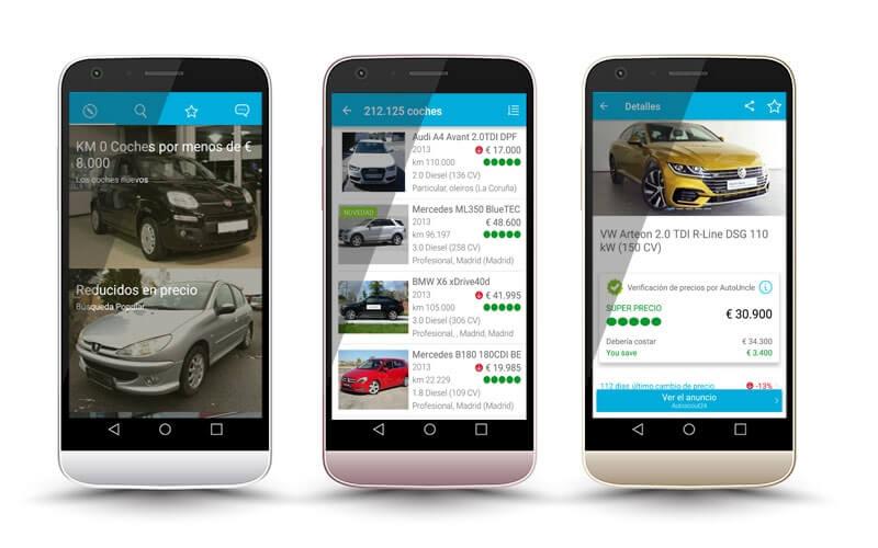 AutoUncle - mercado de coches de segunda mano en el movil