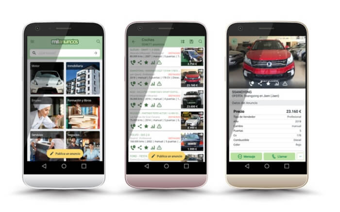comprar un coche de segunda mano en Milauncios.com - Aplicacion de Milanuncios