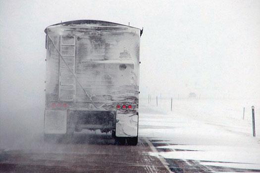 conducir camiones con nieve
