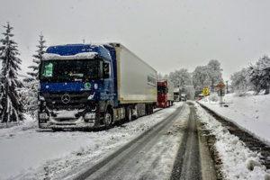 Conducir un camion en invierno