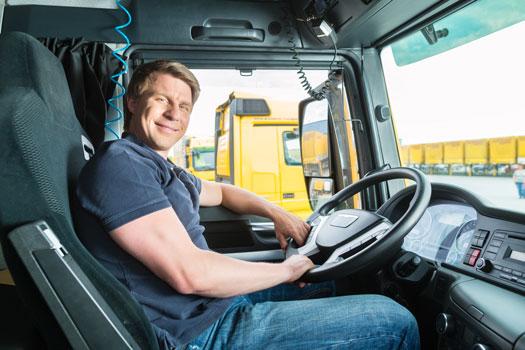 Transportista en camión